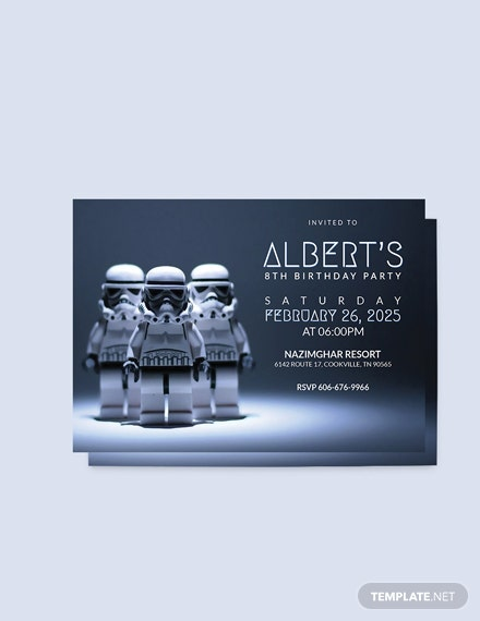 Sample Robot Star Wars Birthday Party Invitation Template