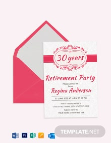 Sample Retirement Party Invitation Template