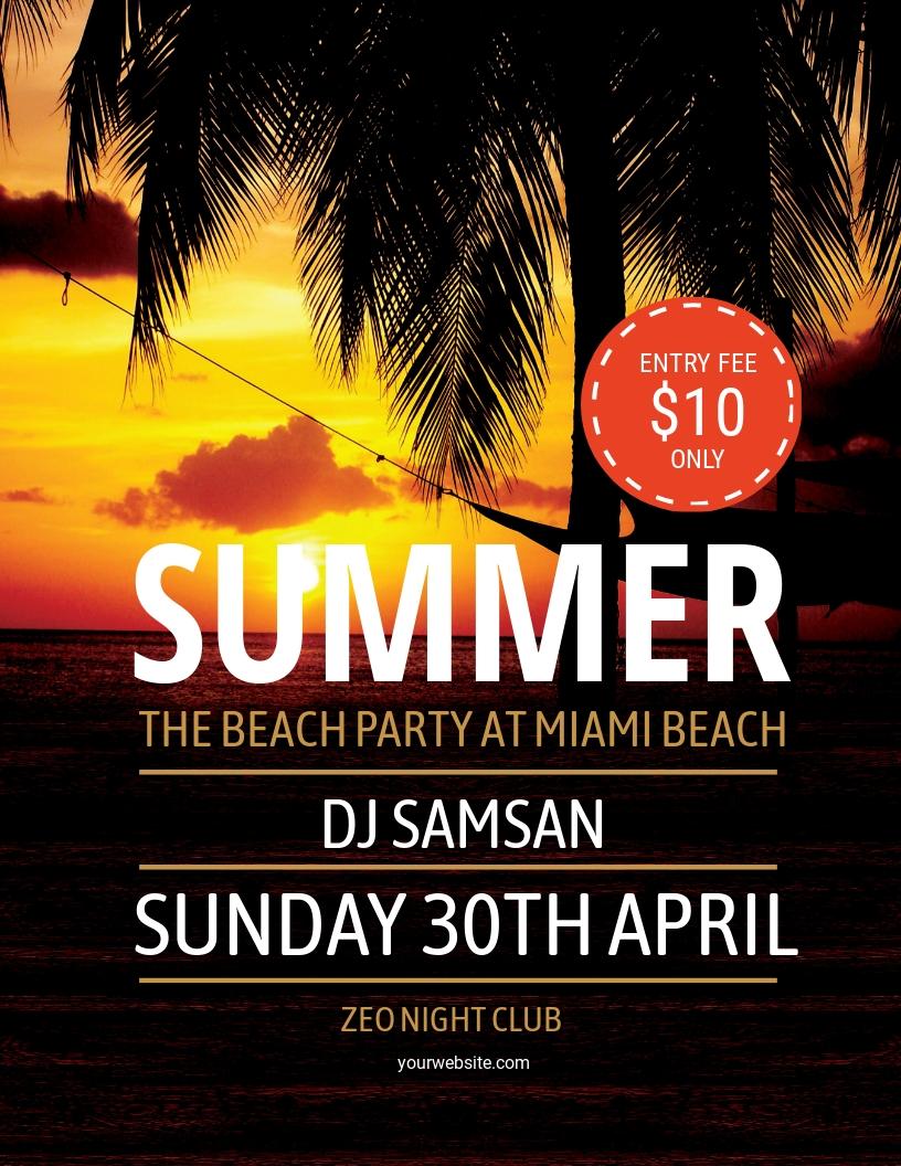 Summer Beach Flyer Template.jpe