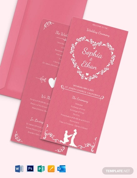 Simple Wedding Invitation Card Template