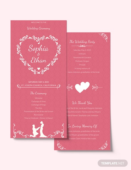 Simple Wedding Invitation Card Template Download
