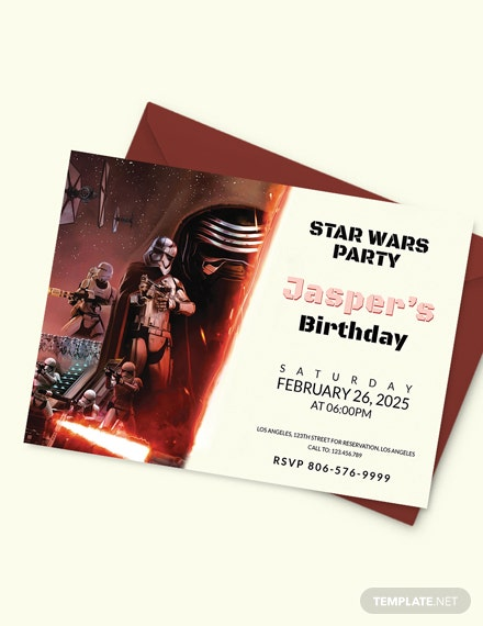 Sample Star Wars Birthday Invitation Template