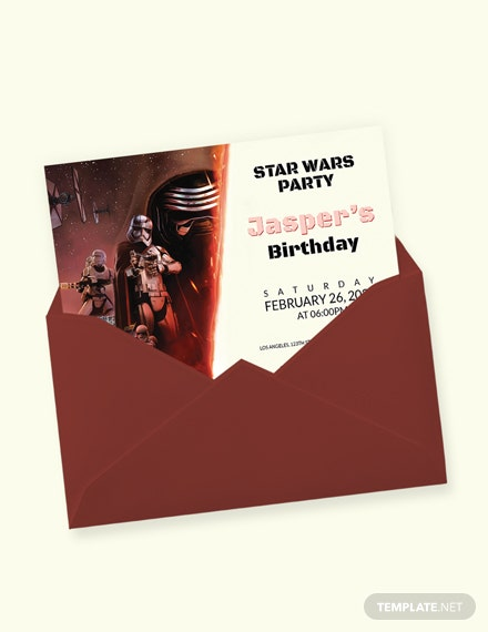 Star Wars Birthday Invitation Template Download