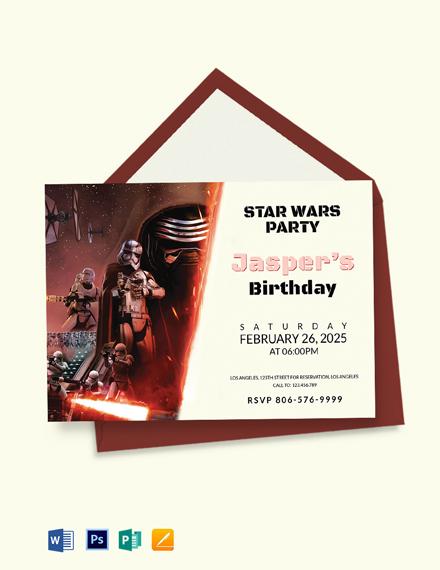 Star Wars Birthday Invitation Template