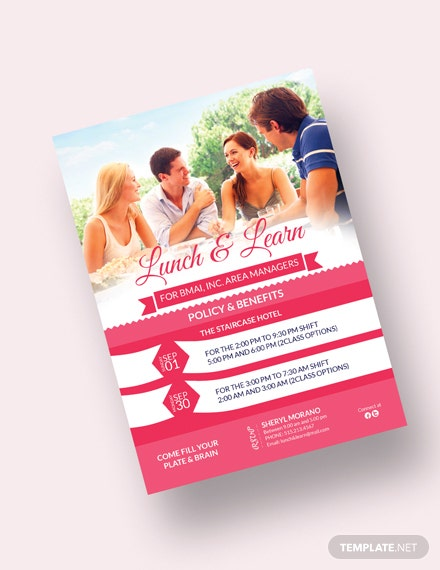 Sample Sweet Lunch  Learn Invitation Template