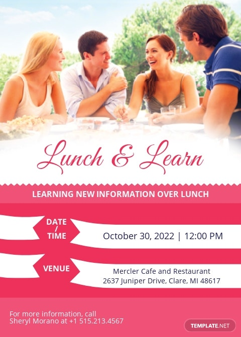 Sweet Lunch & Learn Invitation Template