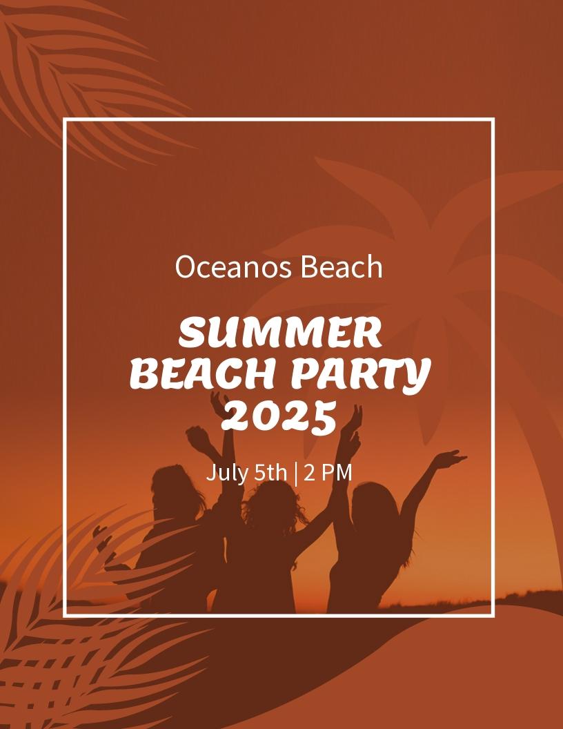 Summer Beach Party Flyer Template.jpe