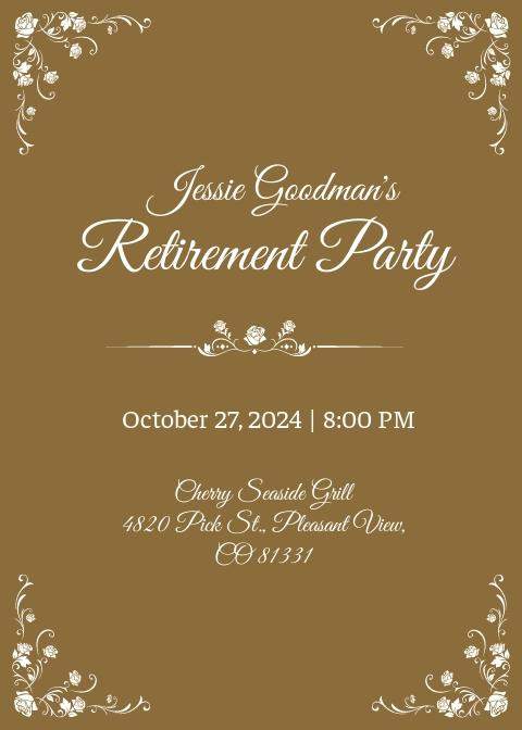 Teacher Retirement Party Invitation Template