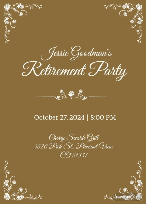 Teacher Retirement Party Invitation Template