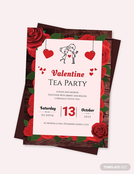 Sample Valentine Tea Party Invitation Template