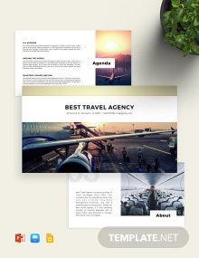 Aviation Theme Travel Agency Presentation Template