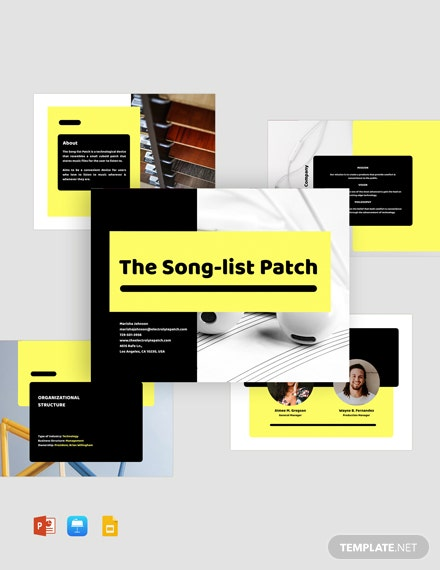 Business Pitch Deck Template