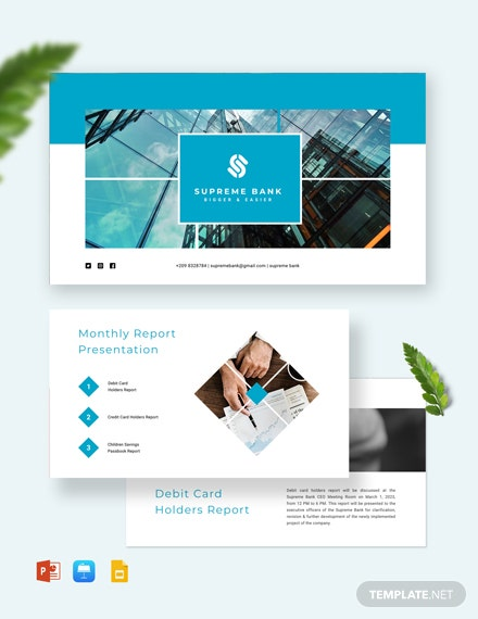 Banking Presentation Template