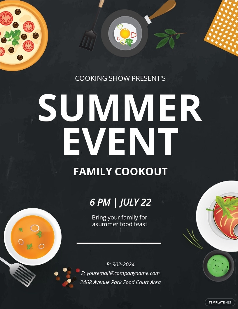 Summer Food Event Flyer Template