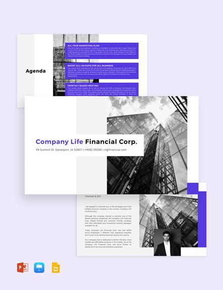 Company Business Strategy Presentation Template