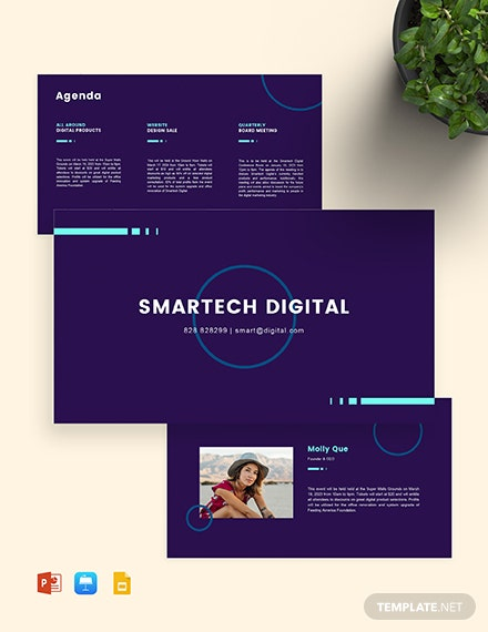 Digital Marketing and Services Presentation Template