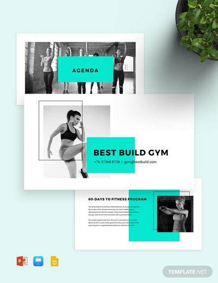 Fitness Gym Presentation Template