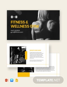 Fitness Presentation Template