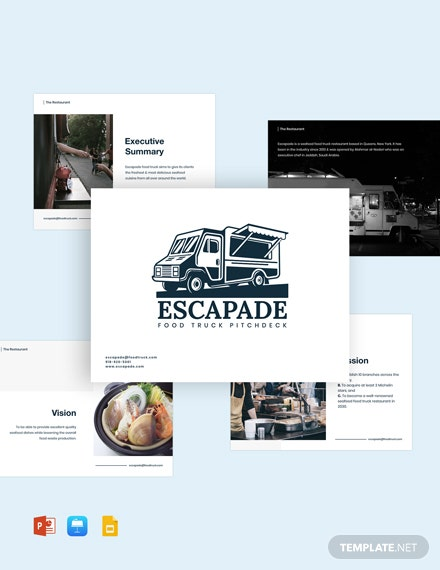 Food Truck Pitch Deck Template