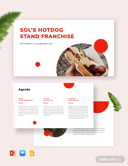 Franchise Business Plan Presentation Templates