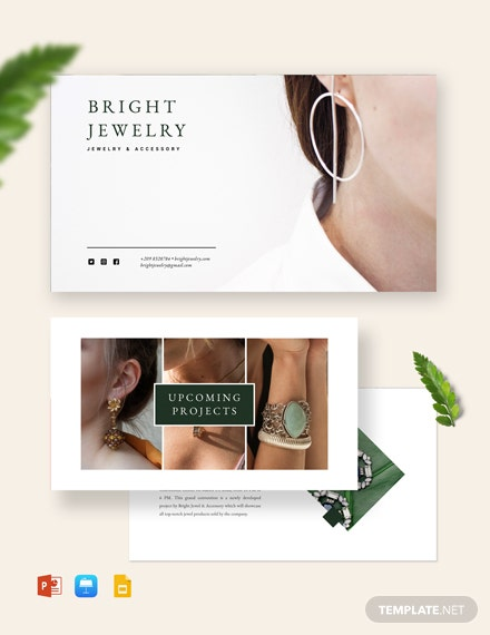Jewellery Presentation Template