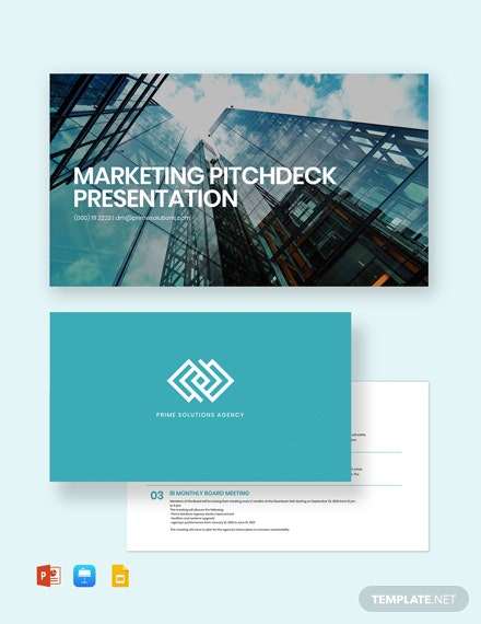 Marketing Pitch Deck Presentation Template