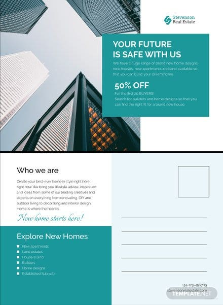 Free New Business Announcement Postcard Template In Microsoft Word - Business postcard template