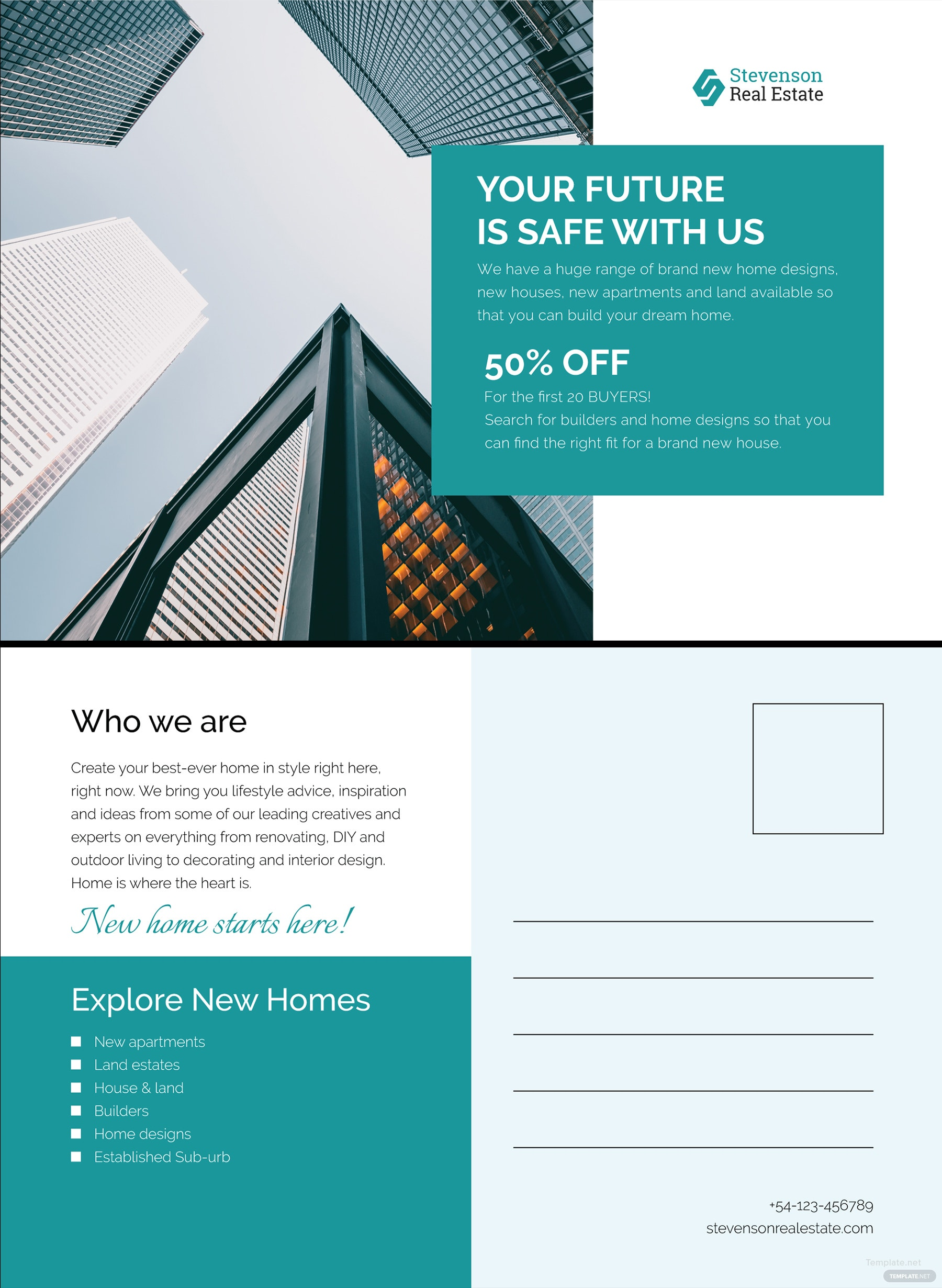 Free Corporate Business Postcard Template in Adobe Photoshop (PSD ...