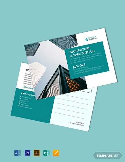 Free Corporate Business Postcard Template
