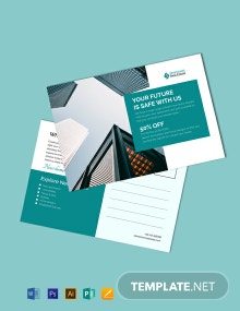 Free Corporate Business Postcard Template