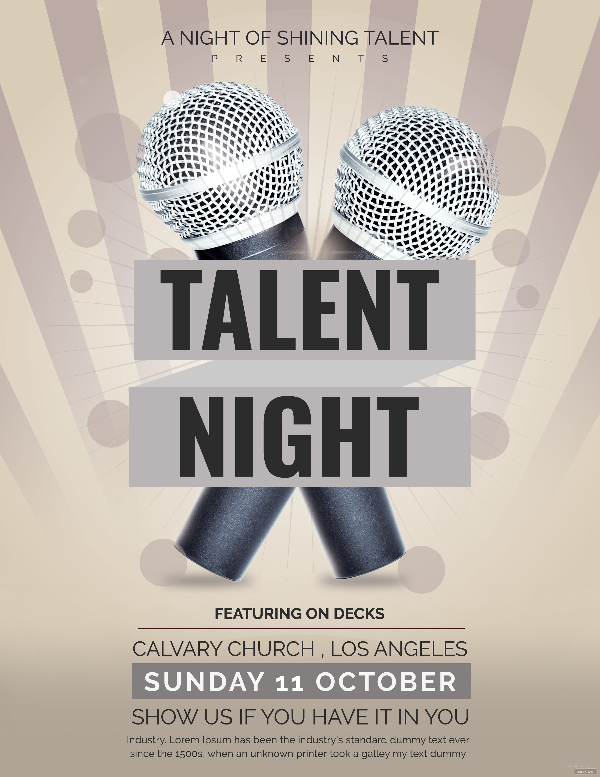 free talent show flyer template in adobe photoshop