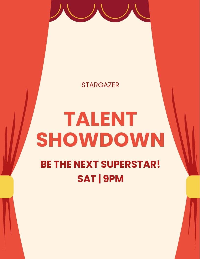 Talent Show Flyer Template.jpe
