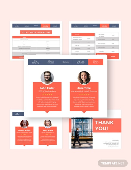 Business Investments Pitch Deck Customize