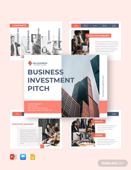 Business Investments Pitch Deck Template