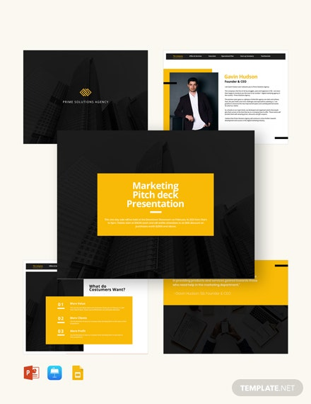 Client Marketing Pitch Deck Template