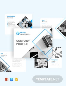 Company Profile Pitch Deck Template