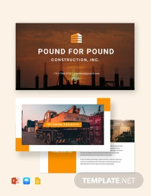 Construction Presentation Template