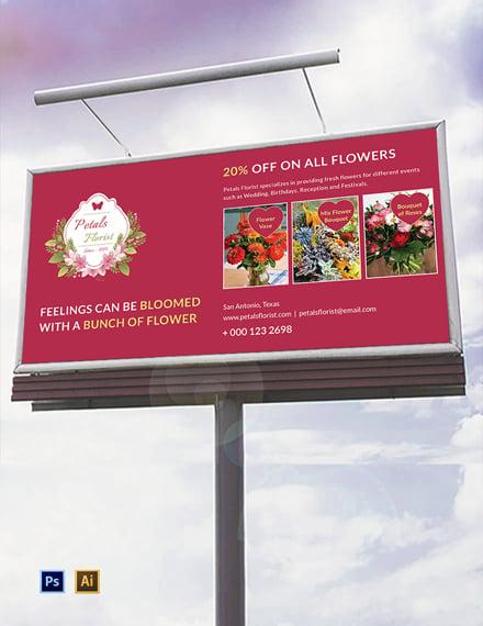 Flower Shop Billboard