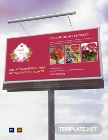 Flower Shop Billboard Template