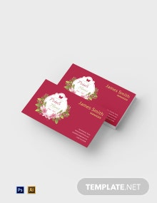 Flower Shop Business Card Template