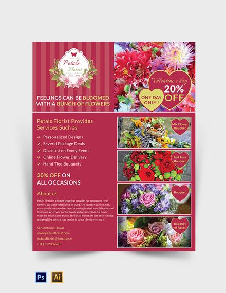 Printable Flower Shop Flyer Template