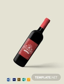 Apple Wine Label Template