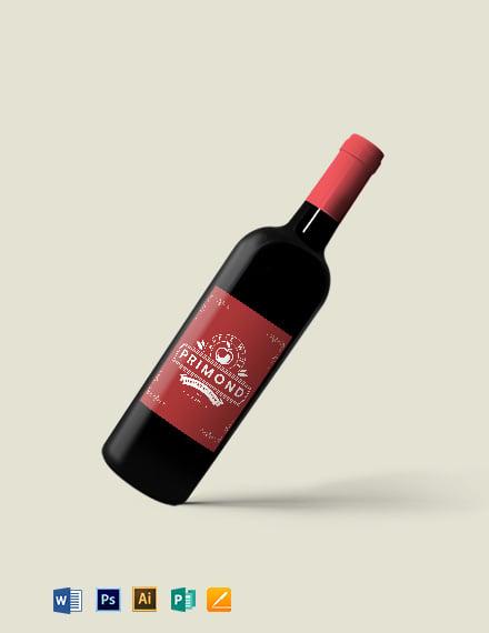 Apple Wine Label Template