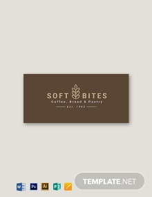 Cafe Bakery Hotel Badge Template