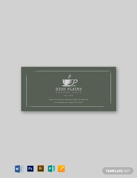 Chalkboard Vintage Label Template