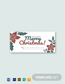 Christmas Label Template