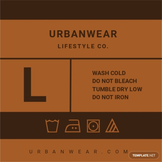 Cloth Label Blank Brown Tag Template