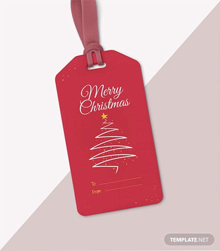 Free Christmas Gift Tag Template