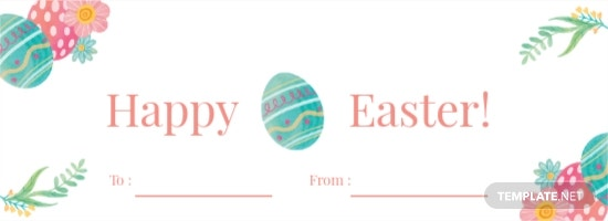 Happy Easter Label Template [Free JPG] - Illustrator, Word, Apple Pages, PSD, Publisher