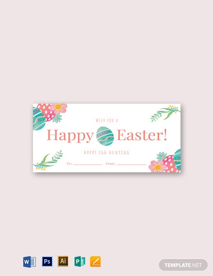 Happy Easter Label Template